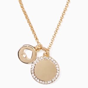 New Kate Spade Gold Spot The Spade Necklace